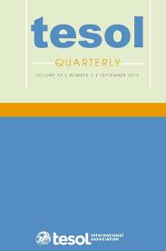 TESOL Quarterly (SSCI)